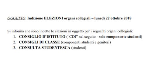 Elezioni dei Rappresentanti degli Studenti e dei Genitori