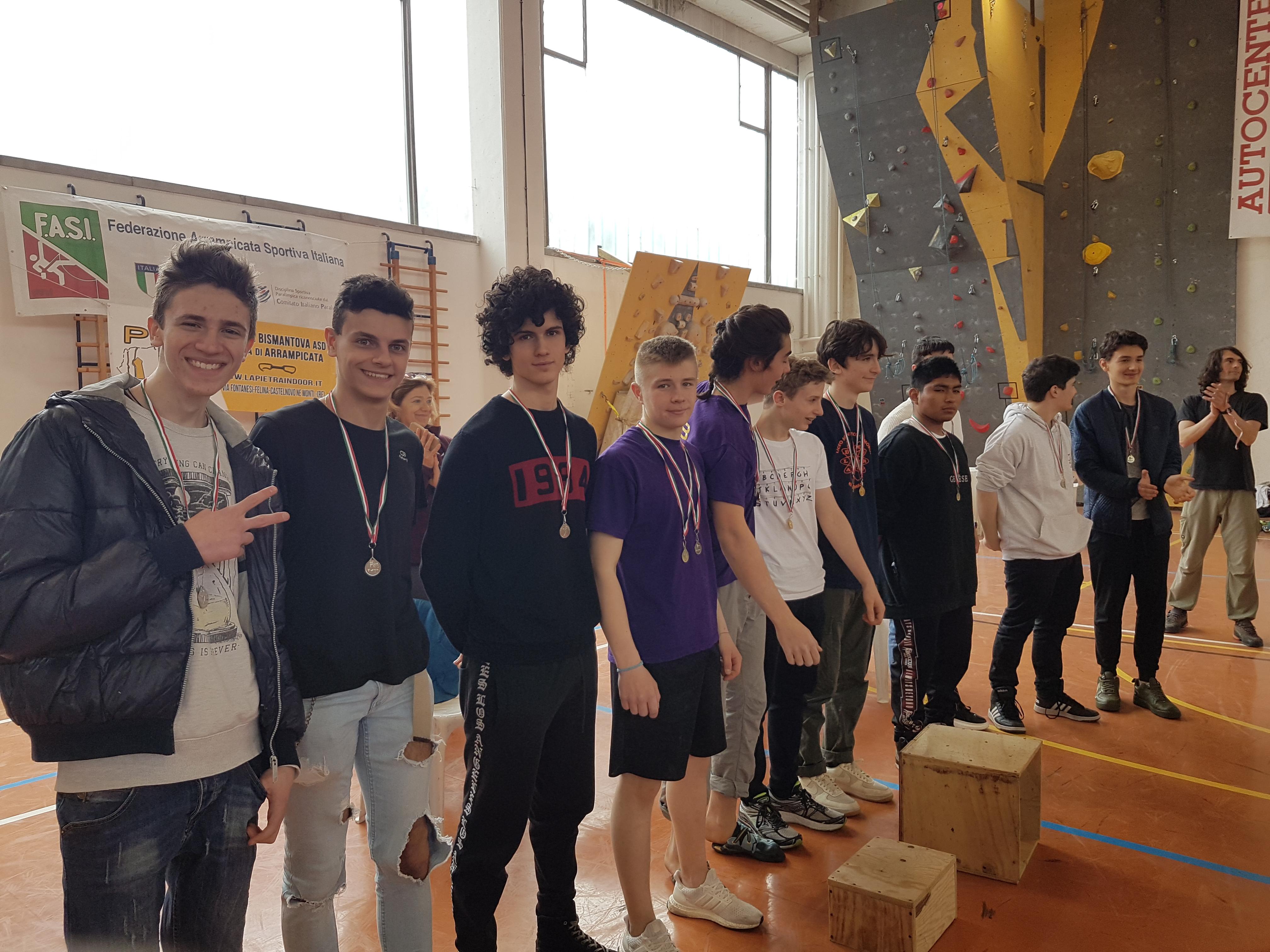 Siamo sul podio dei Regionali di arrampicata!