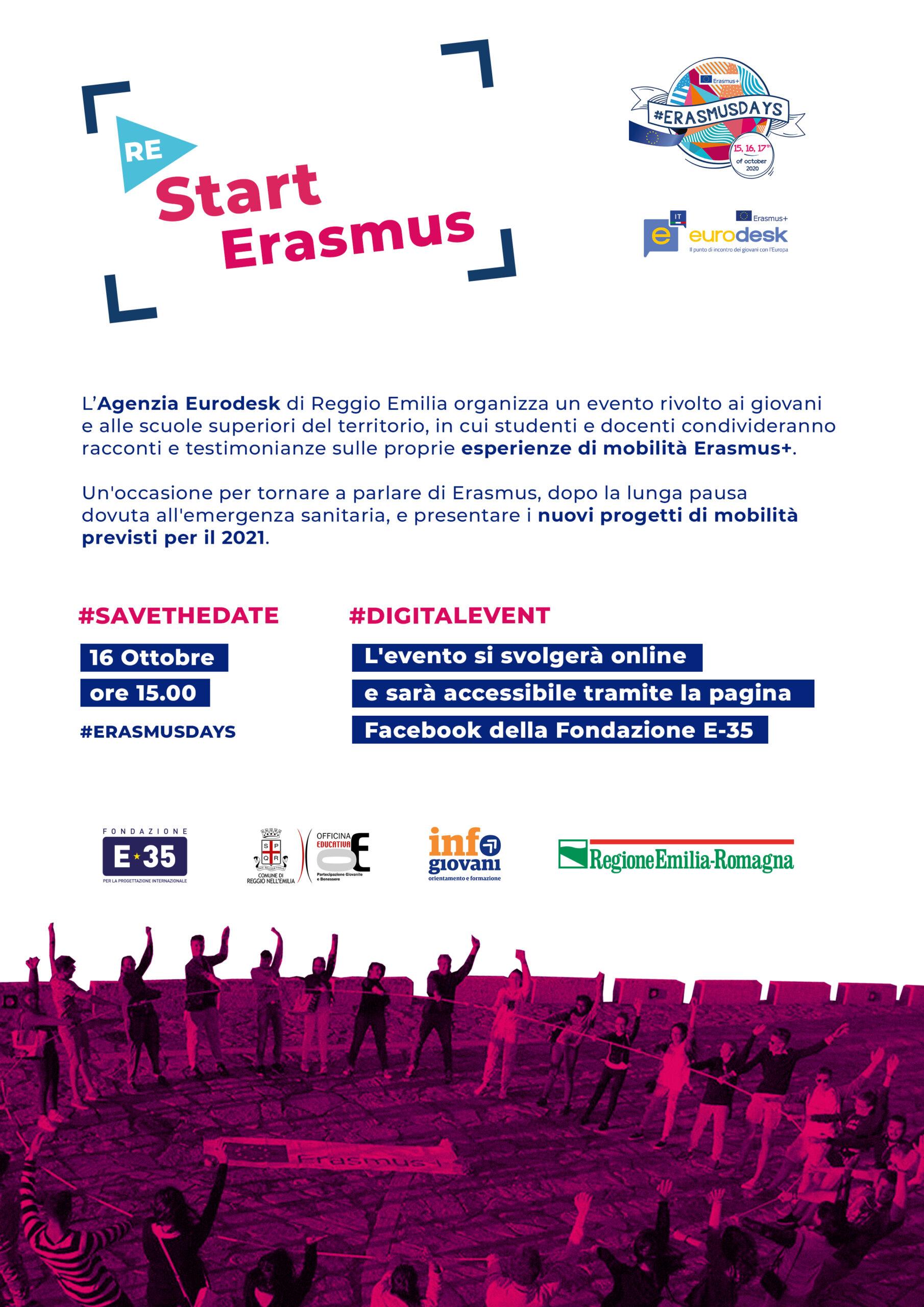 #erasmusdays: il 16/10 collegati con Euro Desk