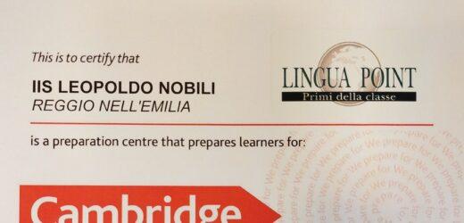 Certificazioni Cambridge: al Nobili puoi!
